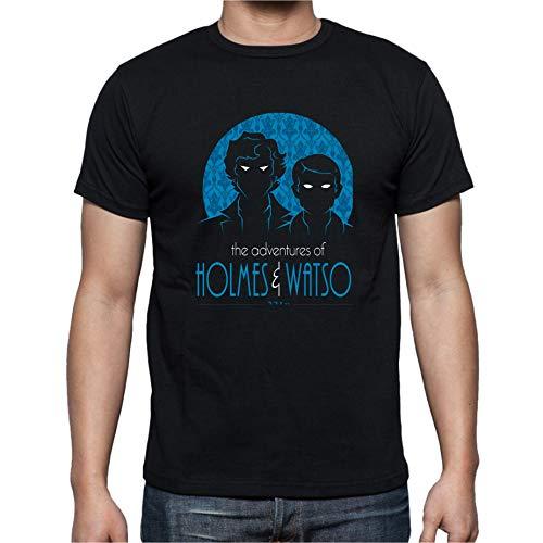 The Fan Tee Camiseta de NIÑOS Sherlock Watson Serie 11-12 Años