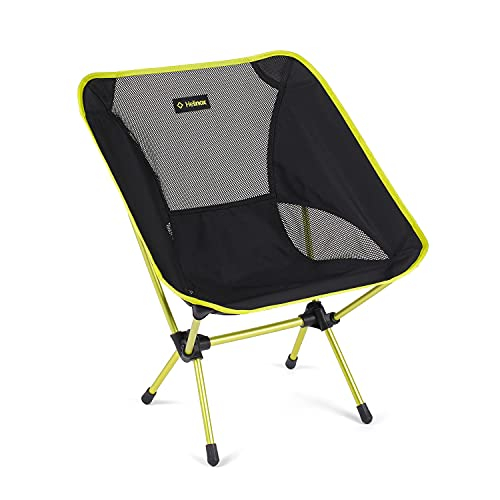 Helinox Chair One Original Lightweight, Compact, Collapsible Camping Chair, Black/Melon