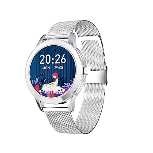 ZGZYL Smart Watch Señoras, Monitor De Ritmo Cardíaco, Pretímetro Impermeable IP68, Pulsera De La Aptitud Deportiva, Pulsera De Monitoreo Menstrual De Mujeres, Mujer Smartwatch,A