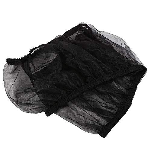 Seacanl Recogedor de Semillas, Cubierta de Jaula de pájaros, Protector de Semillas para Loros Productos para Mascotas para periquitos(Black)