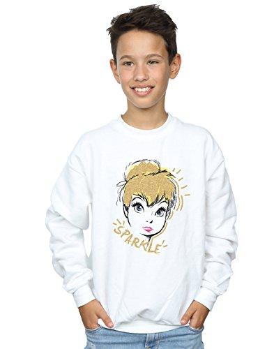 Disney Jungen Tinkerbell Sparkle Sweatshirt 12-13 Years Weiß