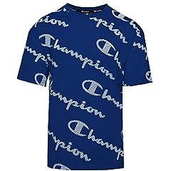 Camiseta Champion Crewneck para Hombre Manga Corta - 214164-bl021