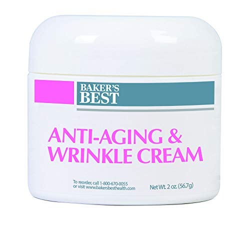 Baker's Best Anti-Aging Wrinkle Cream for Women | Face Moisturizer for Anti-Aging and Wrinkles | Contains Peptides, Vitamins, Butters, Extracts - 2 Ounce