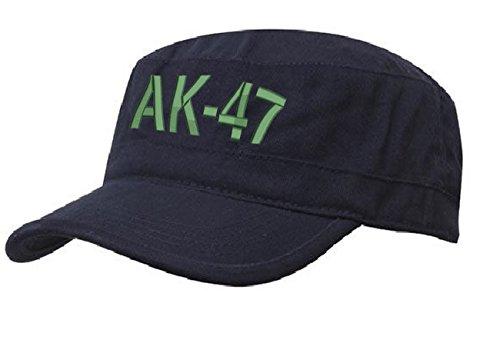 AK 47 MILITÄRMÜTZE Vintage Military Mütze Cap Fancy Dress Kappe biker Cadet Hat Flat (AK 47 Nave green)