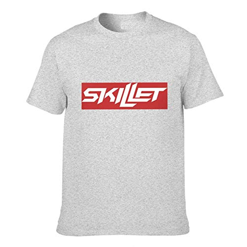Ynjgqeo Sick-of-It Skillet Band Men's Short Sleeve T-Shirt Front and Back Gray Xs