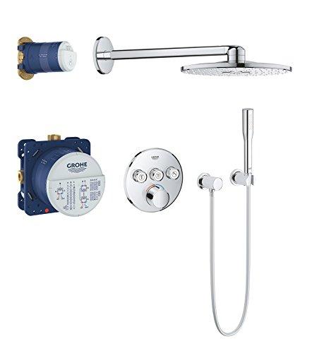 GROHE Grohtherm Smartcontrol | Brause- und Duschsysteme - Duschsystem | Unterputz Mischer mit Rainshower 310 Smartactive Kopfbrause, rund | 34709000