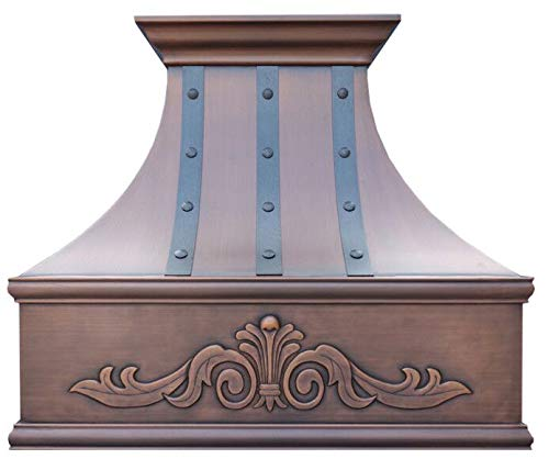 Handcrafted Copper Kitchen Range Hood With Commercial