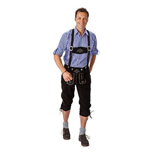 PARTY DISCOUNT NEU Trachten-Kniebundhose aus Leder, schwarz,Gr.64