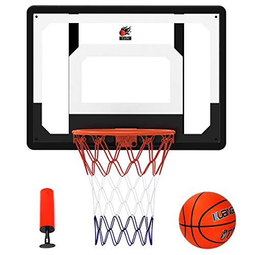 Cyfie 32' x 23' Over-The-Door Basketball Hoop Backboard, Basketball Hoops for Home/Office, Indoor Basketball Game for Kids Adults