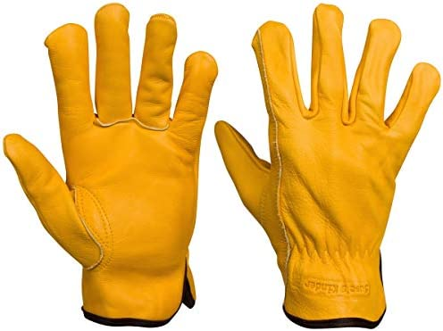 Winter Leather Work Gloves Sherpa Fleece Lined In Mens Small Med Large XL XXL XXL product image
