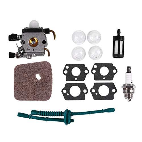 Nrpfell Carburador para Stihl Fs80 Carburador - Stihl Fc55 Fc75 Fc85 Fs310 Fs38 Fs45 Fs45C Fs45L Fs46 Fs55 Fs55Rc Fs55T Fs74 Fs75 Fs76 Fs80 Fs85 Hs45 Hs75 Hs80 Hs85 Zama Carburador (Fs80)