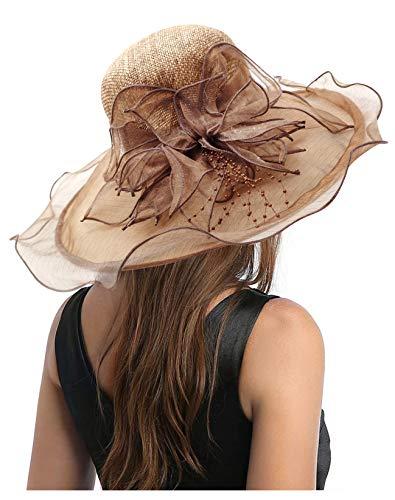 Carnavalife Sombrero de Sol Florales para Mujer, Gorro Nupcial para Vestido de...