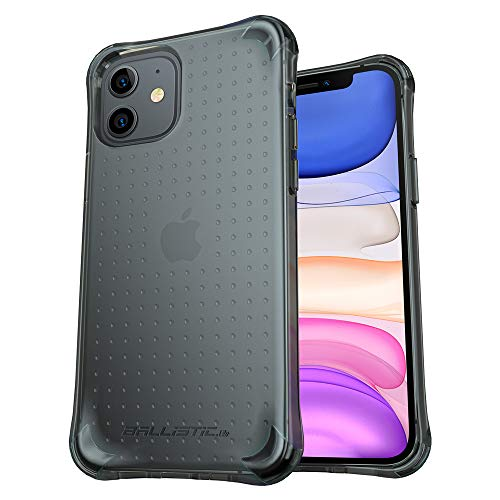Ballistic Shockproof Drop Protection iPhone 11 Case, Full Protective Scratch Resistant Case, Military Grade Protection with 4 Shockproof Air Space Cushion Case for iPhone 11 6.1'' (Translucent Black)