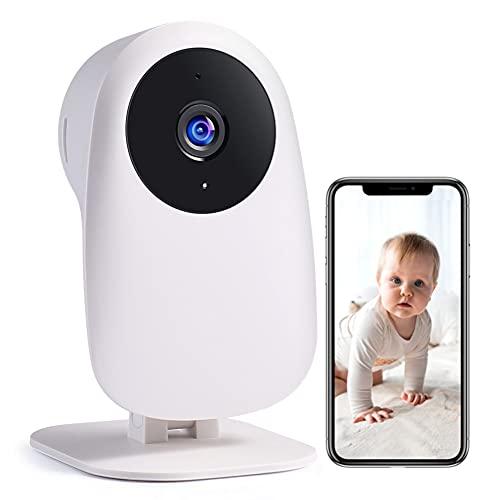 Nooie Baby Kamera WiFi, Babyphone 1080P und 2-Wege-Audio, mit Bewegungs- und Tonerkennung, IR-Nachtversion, Speicherung über SD-Karte und Cloud, funktioniert mit Alexa.