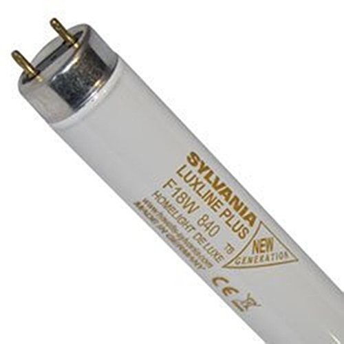 1 x Sylvania 0001500 lampada F 18 W T8 840 Cool White 590 mm 26 mm plus Luxline G13 attacco tubo fluorescente asta 4000 K 1350 lumens T8 lampada fluorescente tubolare a intensità variabile (Mü1215)