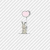 CasaJame Tovaglioli (set da 2/40 pezzi) a 3 strati, 33 x 33 cm, coniglietti pasquali con cuore palloncino