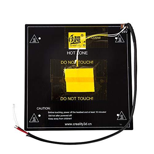 Leepesx PCB per letto riscaldante Ender-3 HeatBed per stampante 3D ender-3 ender-3pro Accessori per stampante 3D Stampante per letto caldo in alluminio nero Piattaforma per circuito stampato per