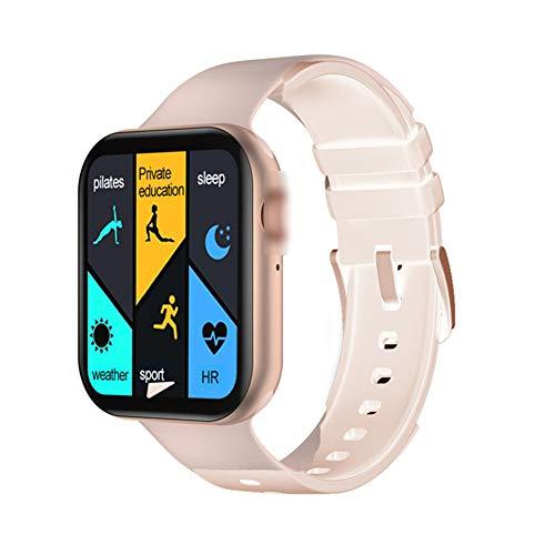 LEDM Reloj Inteligente, Pantalla Grande de 1,78'con Reloj GPS, rastreador de Rango de Movimiento, frecuencia cardíaca, Detector de presión Arterial, Llamada Bluetooth, Reloj Deportivo,Oro