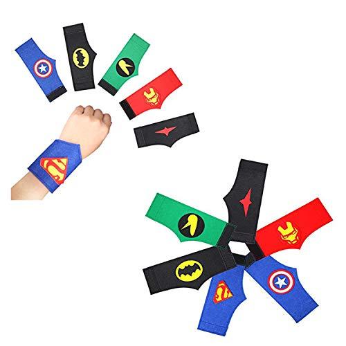 40 Piezas Pulseras de Superhéroe, Fiesta de cumpleaños de superhéroe, Suministros de Fiesta de Superhéroes, Accesorio de Fiesta Infantil, Regalo de Fiesta de cumpleaños para niños y niñas favores