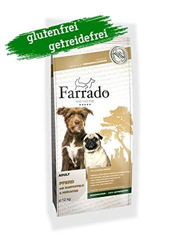 Farrado Pferd - Hundetrockenfutter für ausgewachsene Hunde Aller Rassen - getreidefrei, glutenfrei, zuckerfrei (12kg)