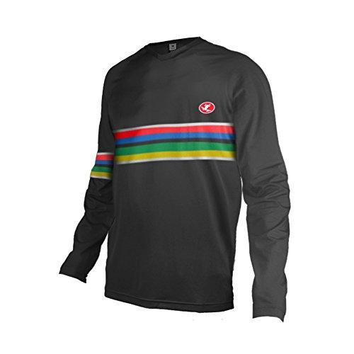 Uglyfrog Bike Wear Designs Element MX Jersey Shocker Schwarz Weiß Motocross Downhill Jersey Enduro Cross Motorrad MTB Kurz/Langarm Herren Bekleidung DEHerDownFT06