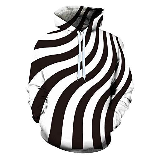 nobrand Europas und Amerikas 3D-Digitaldruck-Whirlpool personalisierter Pullover Hooded Sweater-Anzug mit großem Mantel