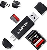 KiWiBiRD Lettore di Schede di Memoria SD/Micro SD, Adattatore Micro USB OTG e Lettore di Schede USB 2.0 TF per Computer / Smartphone / Tablet con Funzione OTG