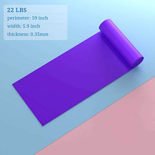 NIUYU Yoga Pilates Theraband, Schulter Stretch Elastische Zugseil Für Frau Und Mann Hauptgymnastik-ausrüstung Fitnessgeräte Widerstandsbänder-lila-22Pfund