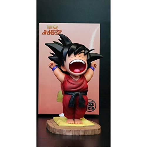 YUXIAN Figura de Anime,Dragon Ball Z Son Goku Juguetes Bonitos Figuras de Anime PVC Modelo de bostezo matutino niños muñeca Figura de acción Brinquedos DBZ Gogeta Juguetes