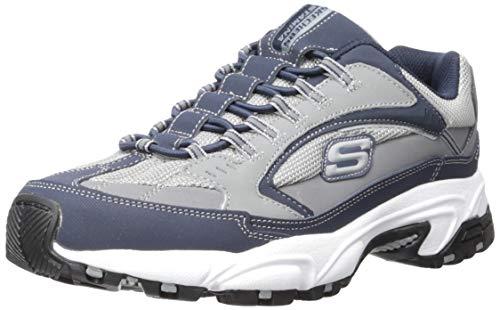 Skechers Men's Stamina Woodmer Loafer, Navy/Gray, 9.5 M US