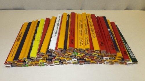 144 Lot Misprint Woodcase Carpenter Pencils, #2 Lead, Bulk Wholesale Lot