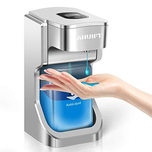 AHUIFT Automatischer Seifenspender Automatischer Gel Seifenspender mit LCD-Bildschirm für Küchen und Bäder Waschraum Offentlicher Raum 500 ml Wandhalterung & Tisch platziert