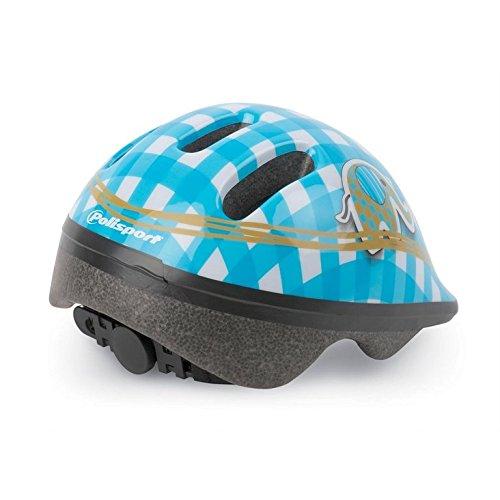 POLISPORT casque de vélo kinderhelme p1 éléphant taille xXS (44-48 cm (bleu/blanc)