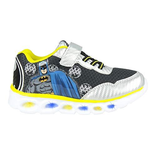 CERDÁ LIFE'S LITTLE MOMENTS Cerdá-Zapatillas de Color Negro Batman LED-Sneaker, Schwarz, 28 EU