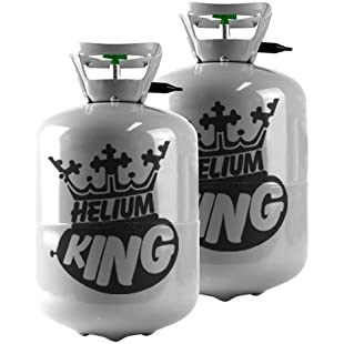 Helium Canister - For 60 Balloons, 2 x Gas Cylinders Super Saver Kit:Maskedking