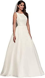 Sample: As-is High-Neck Mikado Ball Gown Wedding Dress Style AI10012650