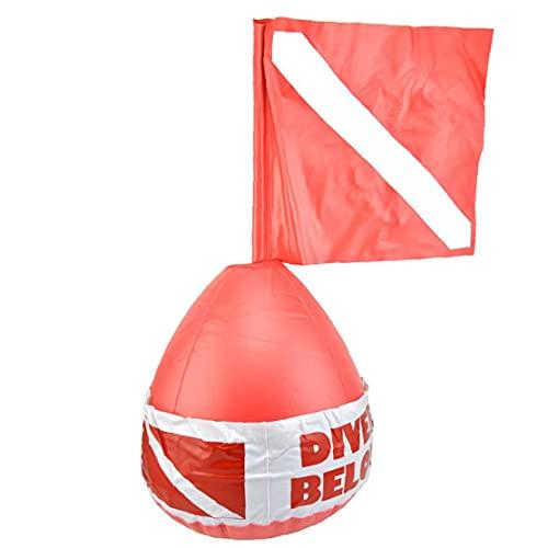 Liadance Dive Boje Oberfläche Marker Tauchen Signal Flag aufblasbare Kugel PVC-Sicherheitszeichen Diver Below Red