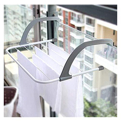 QAZX Percha Ropa Ajustable Radiador De Caballos Ropa De Aire Toalla Laundry Hortic Rail Rail Dobling Secking Racks, Aireador Plegable (Color : Light Grey, Size : 50x34cm)