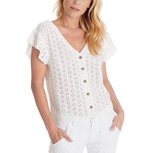 Le Temps des Cerises FPEDRO0000000SM T-Shirt, Blanco, S Femme