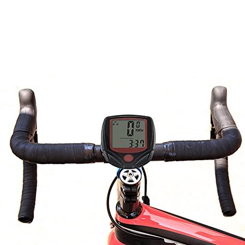 Velocímetro para bicicleta, velocímetro para bicicleta cableado con pantalla LCD multifunción con...