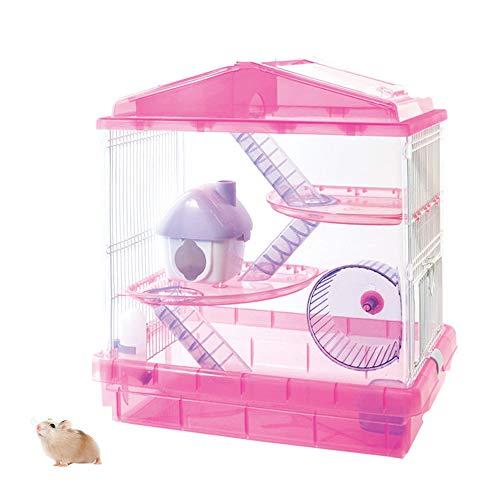 WXLSQ Acrílico Hamster Cage, de Gran tamaño Transparente de Lujo de Dos...