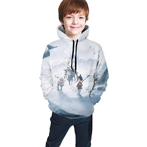 AOOEDM Kubo und The Two Strings Hooded Sweate Sweatshirts für Jungen und Mädchen Kinder Unisex Youth Teenager-