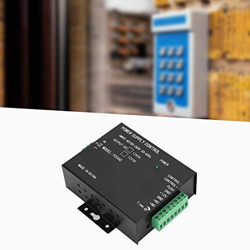 Fuente de alimentación de acceso anti-sobrecorriente, fuente de alimentación 12V 3A Negro 100-260V Sistemas de desbloqueo Sistema de desbloqueo de cerradura eléctrica para sistemas de