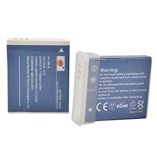 DSTE 2 Piezas de Recambio de bateria NB-6L Compatible con Canon PowerShot S90 S95 S120...