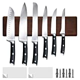 HOSHANHO Magnetic Knife Holder | Kitchen Knife Rack for Wall Mounting 16 Inch | Knife Bar with Powerful Magnetic | Acacia Wooden Knife Holder for Kitchen Knives and Storaging Magnetic Items