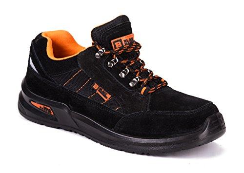 Botas para Hombre De Seguridad Puntera De Acero Zapatos De Trabajo Senderismo Plantilla De Protección Unisex-Adulto S1P CE Aprobado Black Hammer 9952 (44 EU / 10 UK, Negro)