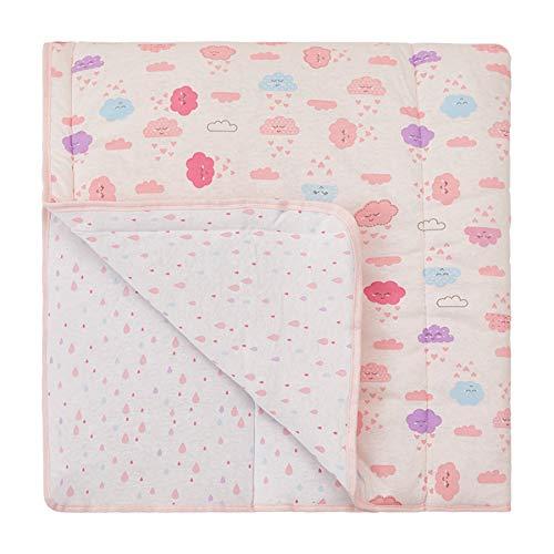 Edredom avulso infantil para cama de solteiro papi malhas estampado 2, 20m x 1, 50m 01 un, Papi Textil, Rosa