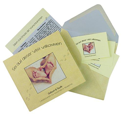GESCHENK CD SET ZUR TAUFE & GEBURT mit individualisierbaren Wunschkärtchen: die 8 schönsten Tauflieder. Originelles Baby Geschenk für Jungen und Mädchen.