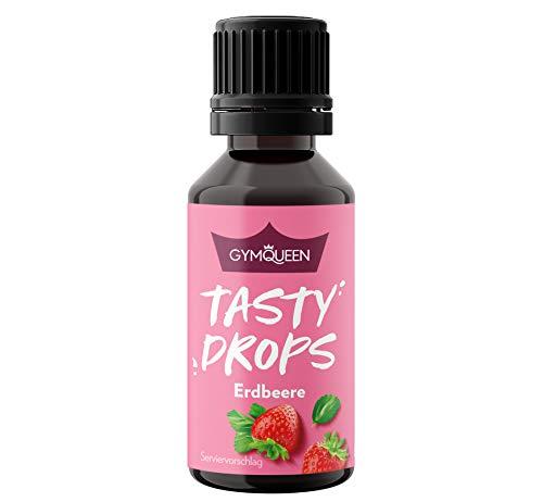 Tasty Drops de GymQueen 30 ml | Gotas de sabores sin calorías, sin azúcar y sin grasa | Gotas de aroma para endulzar la comida | Fresa