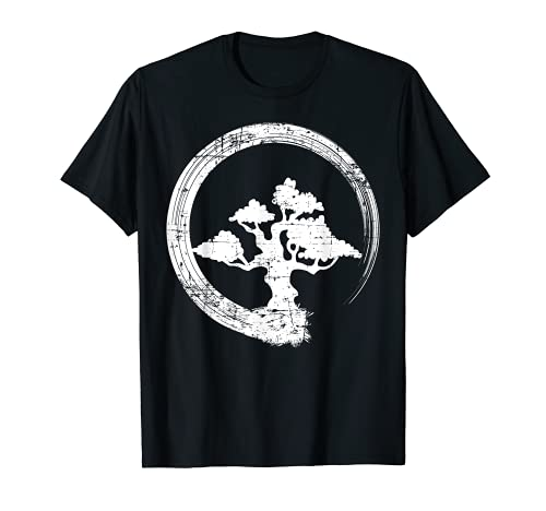 Bonsai Tree Shirt Buddhist Zen Enso Circle Men Women Gift Camiseta